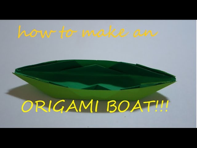 How to fold an origami boat