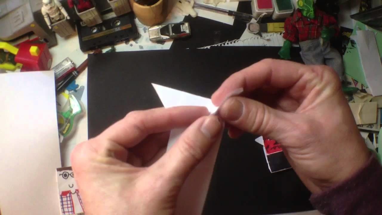 How to Fold Origami Darth Maul by Tom Angleberger