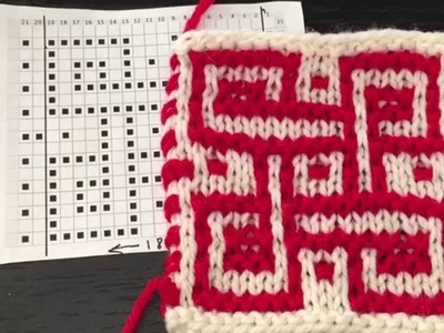 How to Knit Mosaic Stitch in Garter.Stockinette st Combined