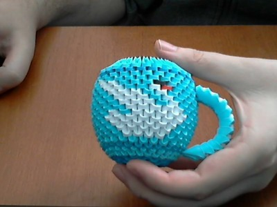 How to make 3d origami cup of tea (model 1 swan)