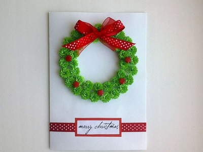 How To Make A Beautiful Christmas Card With A Wreath - DIY Crafts Tutorial - Guidecentral