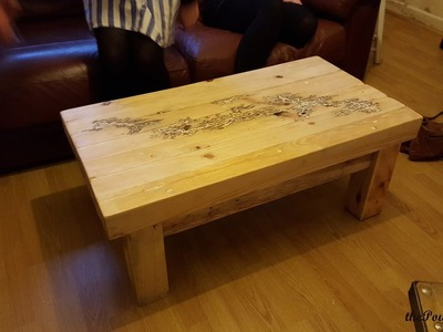 How to make a Coffee Table  with Pallets - DIY Furniture Project - Lichtenberg Figure