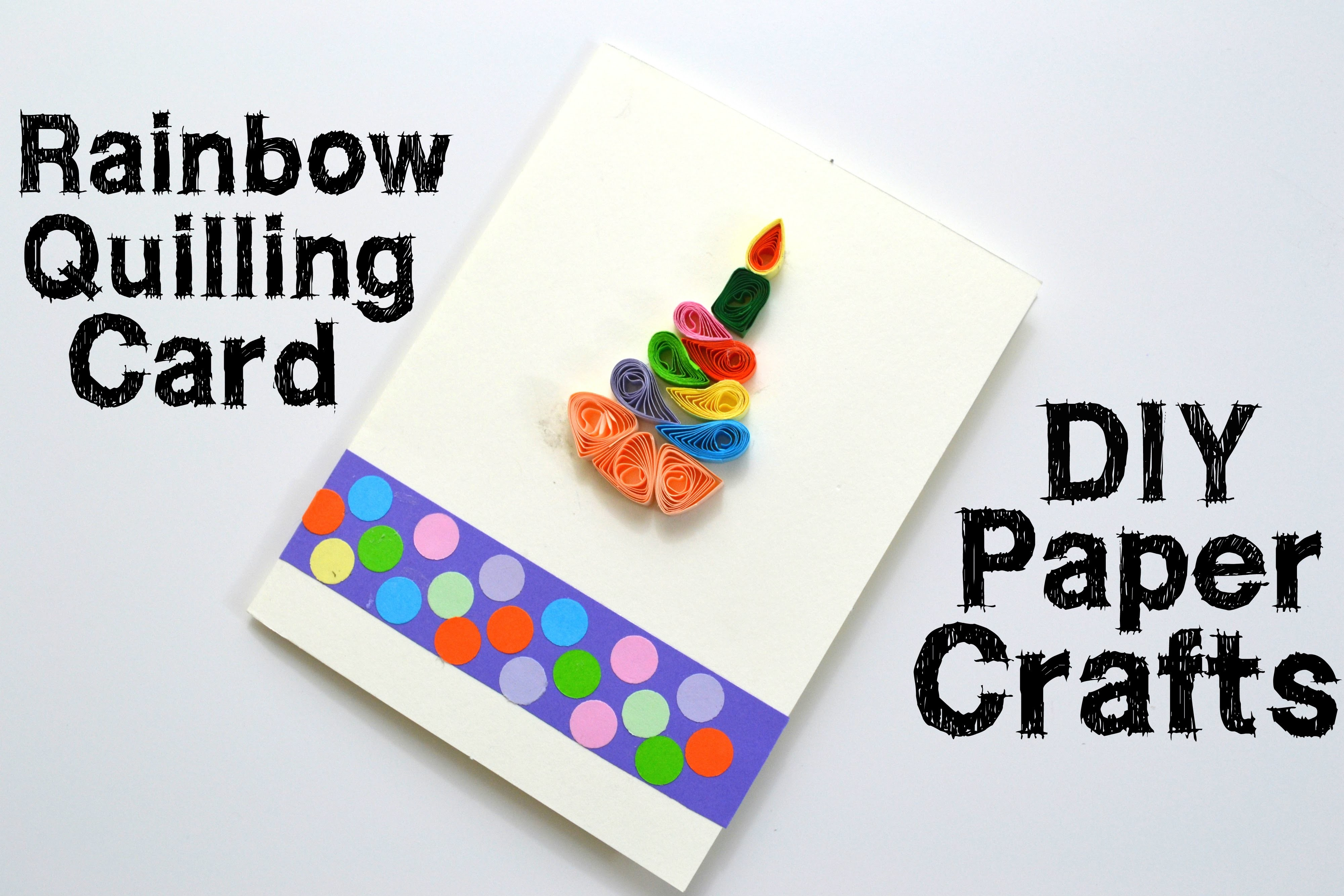 How to make a Quilling Birthday Greeting Card - Easy DIY Paper Crafts - Giulia's Art