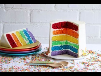 How to make a Rainbow Cake  ♥ Chokolat Pimienta