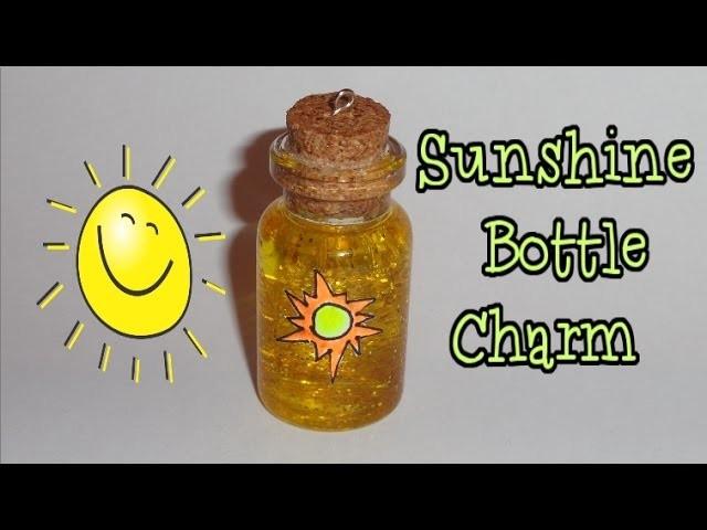 How to Make a Sunshine Miniature Bottle Charm