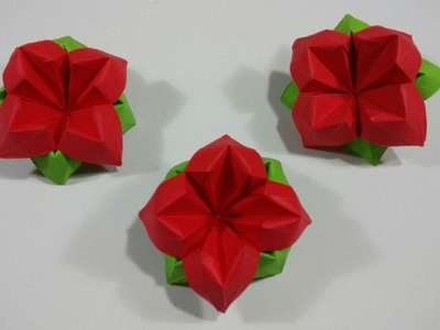How to make an easy origami flower