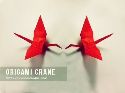 How to Make an Origami Crane ( Traditional )
