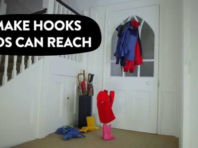 How to make fun hooks your kids can reach