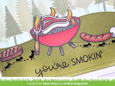 "Lawn Fawn Let's BBQ | ""You're Smokin'"" Card"