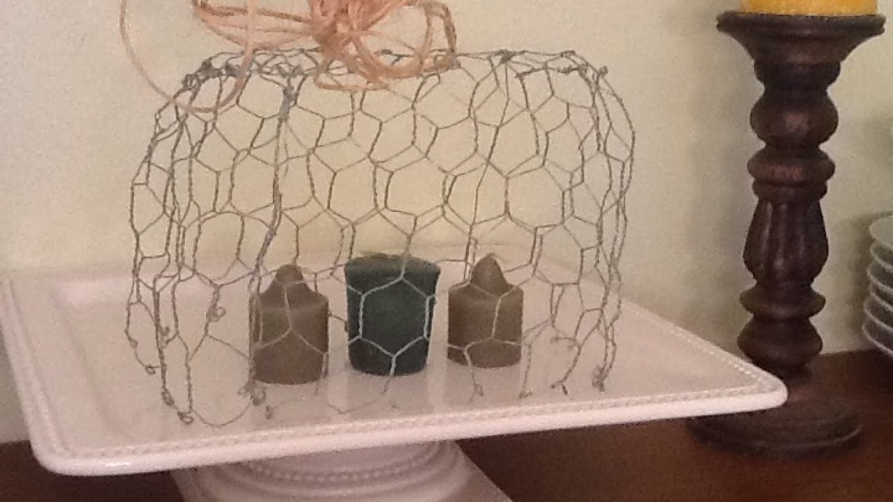 Make a Rustic Chicken Wire Candle Cage - DIY Home - Guidecentral