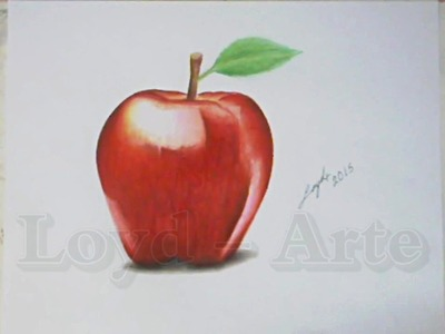 Manzana Roja Dibujo realista - Red Apple Time Lapse Draw