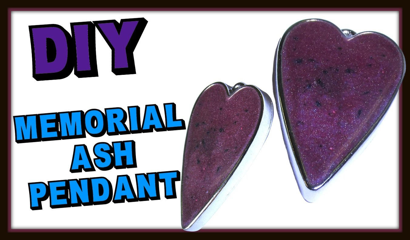 Memorial Heart Ash Pendant DIY ~ Craft Klatch Resin Jewelry