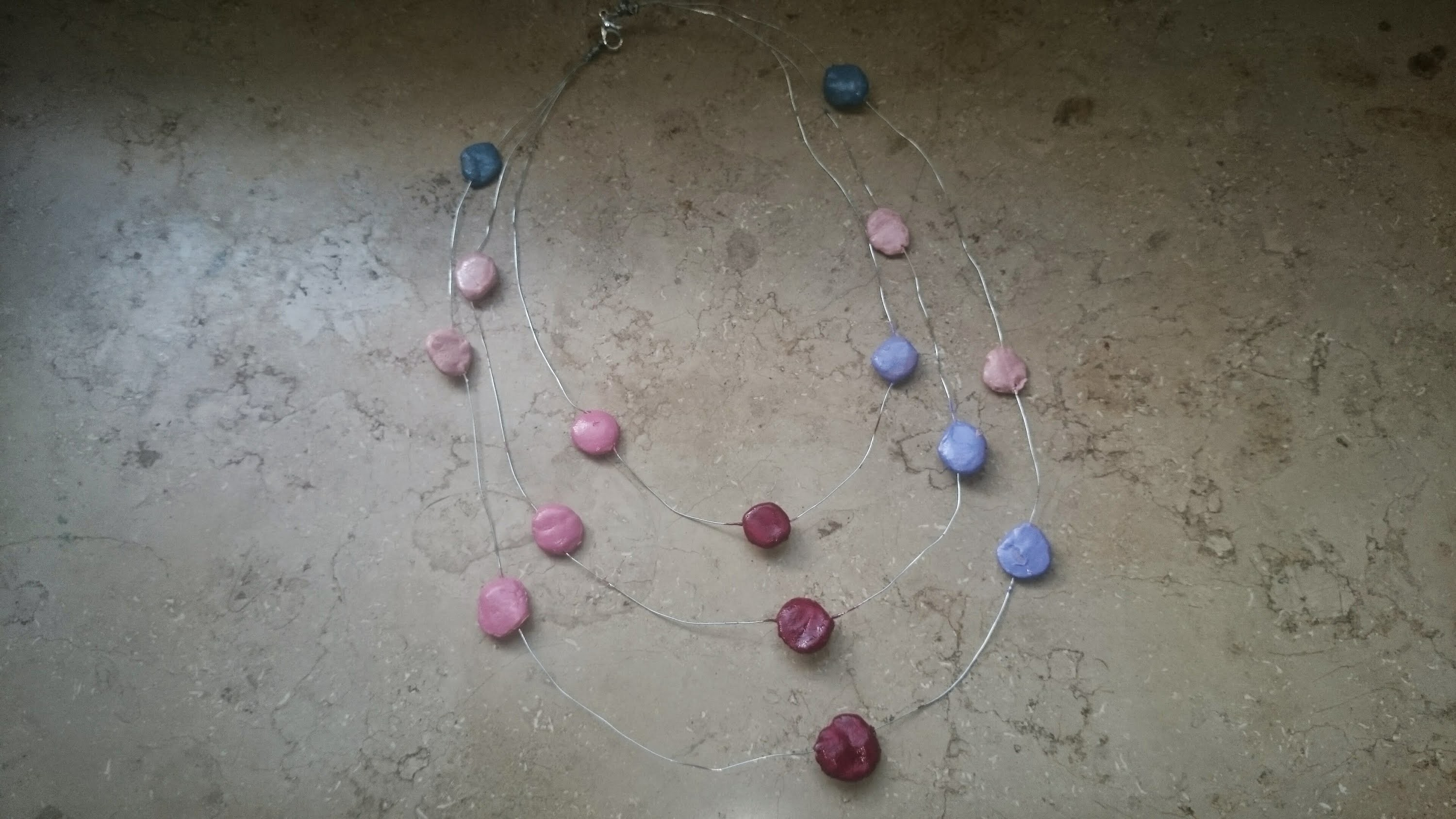 Multi strand necklace: clay jewellery making tutorial