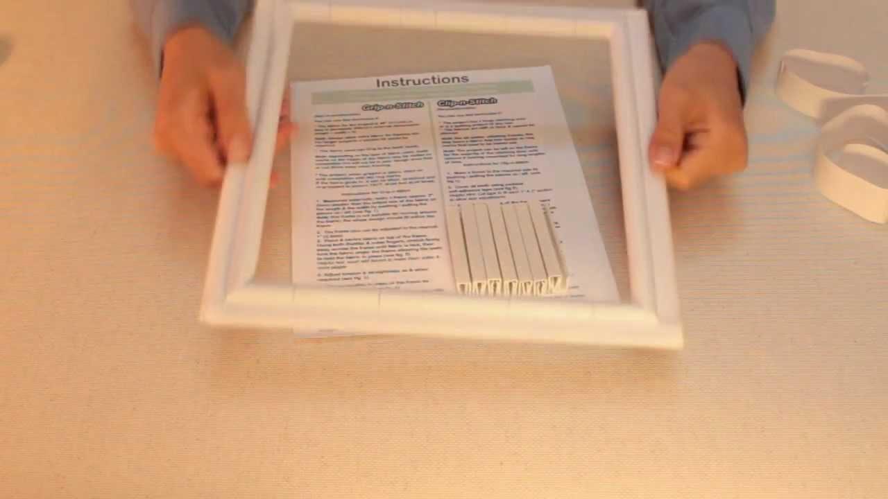 NEW Clip or Grip-n-Stitch :: 2 Revolutionary Stitching Frames in 1