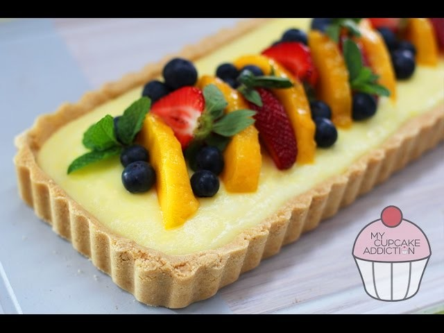 No Bake Dessert | 15 minute Fruit Tart Recipe | My Cupcake Addiction