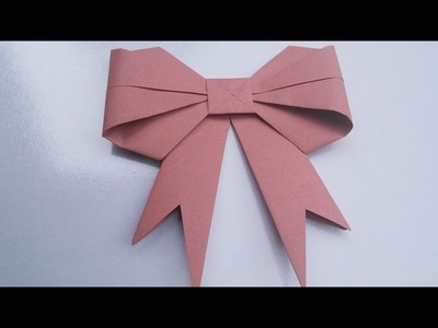 Origami Bow   Easy Hand Work Tutorial   HandiWorks #7