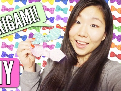 ORIGAMI DIY ║ How To Make Origami Ribbon Bow