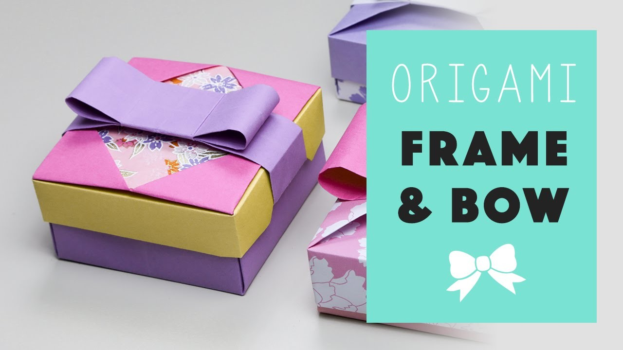 Origami Frame + Bow for Mix & Match Gift Box
