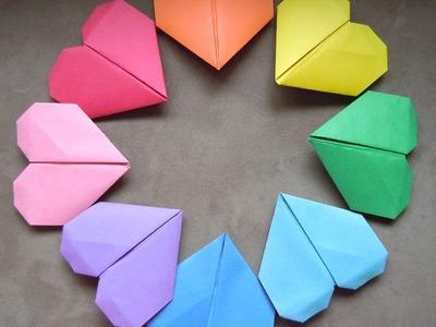 Origami make heart kağıttan kalp yapma