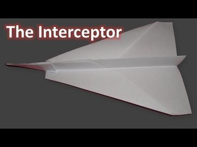 Origami Paper Plane - The Interceptor