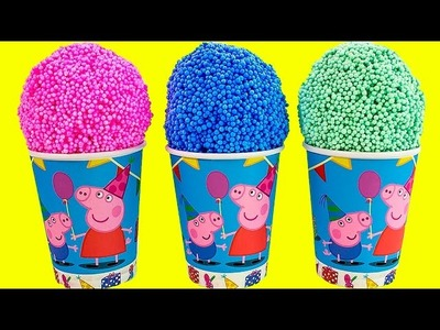 Peppa Pig Foam clay Surprise Eggs Ice Cream cups Disney Princess Thomas Spongebob