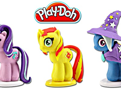Play doh MY LITTLE PONY Make N' Style Ponies #5 | Starlight Glimmer, Sunset Shimmer & Trixie