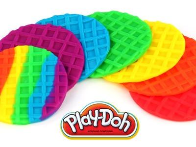 Play Doh Rainbow Waffles