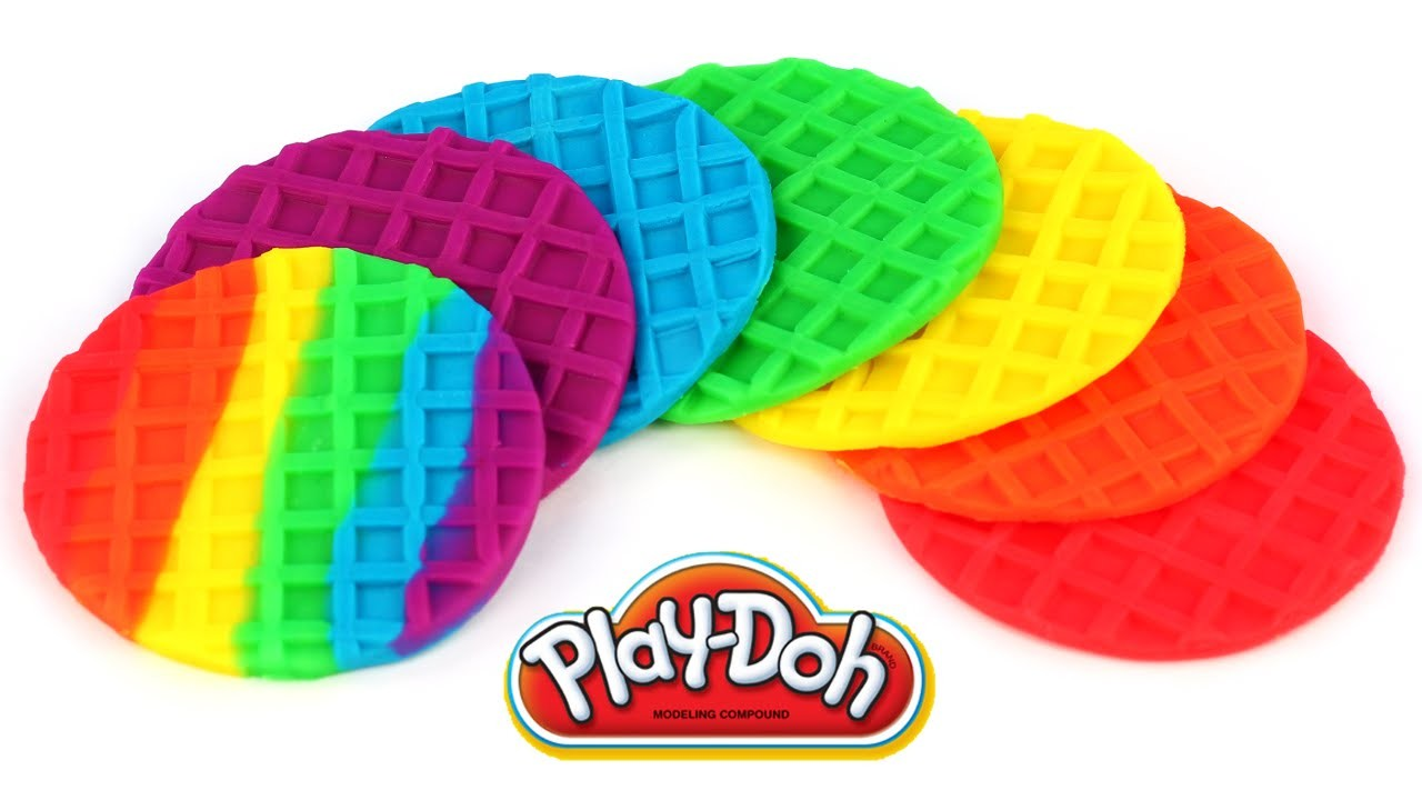 Play Doh Rainbow Waffles