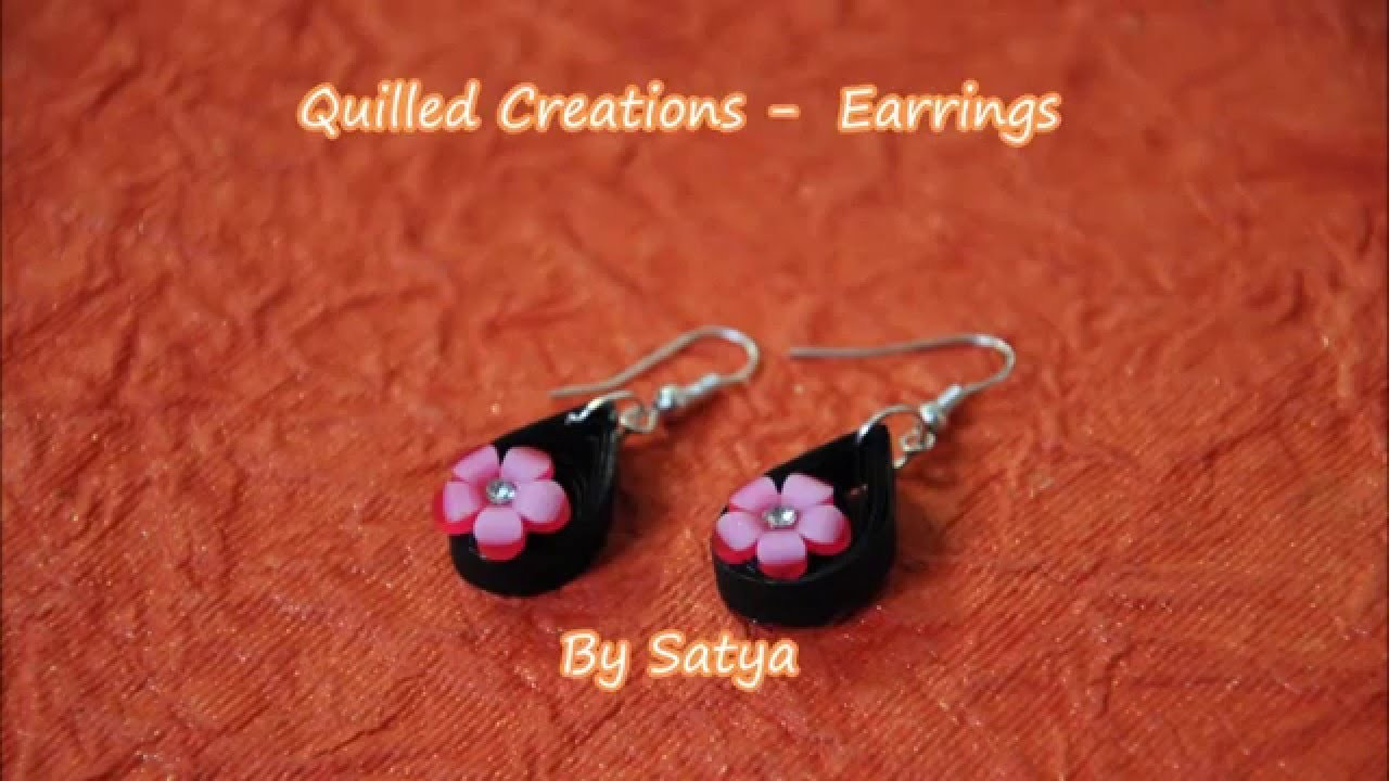 Quilling Black perfect earrings - Art of Quilling - DIY Quilling Earrings