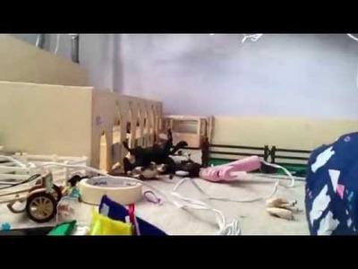 Schleich Barn Clean Up Day!!! Plus DIY!!!! (Part Two)