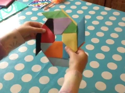 Skye TV1 - Tutorial on  'How to make an easy origami Moving Star'