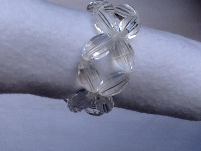 Stretch cord and Oval bead easiest Bracelet