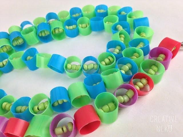 Upcycled Straw Jewelry Tutorial