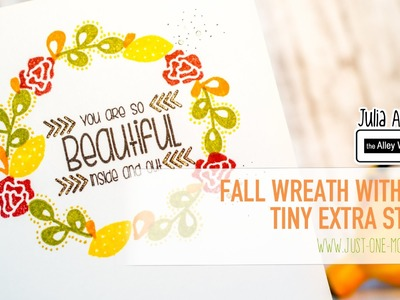Use Your Small Filler Stamps for a Fall Wreath