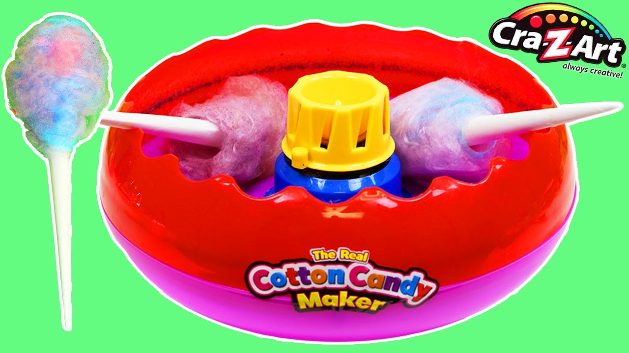 Cra-Z-Art Cotton Candy Maker Playset Fun & Easy DIY Real Cotton Candy Maker!