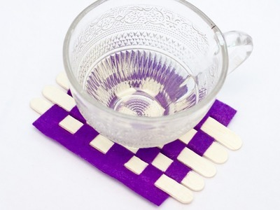 Create a Cool and Easy Popsicle Stick Coaster - DIY Home - Guidecentral