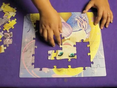 DISNEY PRINCESS RAPUNZEL PUZZLE. LEARN TO PUT A BIG PUZZLE TOGETHER. DIY