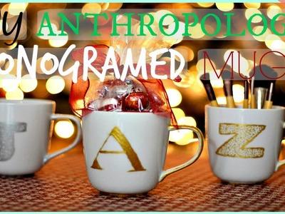 DIY Anthropologie Monogrammed Mug!