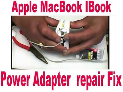 DIY Apple Portable Power Adapter MacBook IBook Charger repair Fix