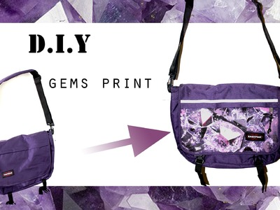 DIY Gems. Minerals Print | 5feet-6inches for EASTPAK (Cross Body Bag Customization)