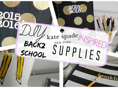 DIY Kate Spade Inspired School Supplies | Collab w. justjillxo & VictoriaLin