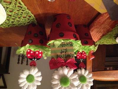 Diy ladybug centerpieces on a budget. for a birthday party.