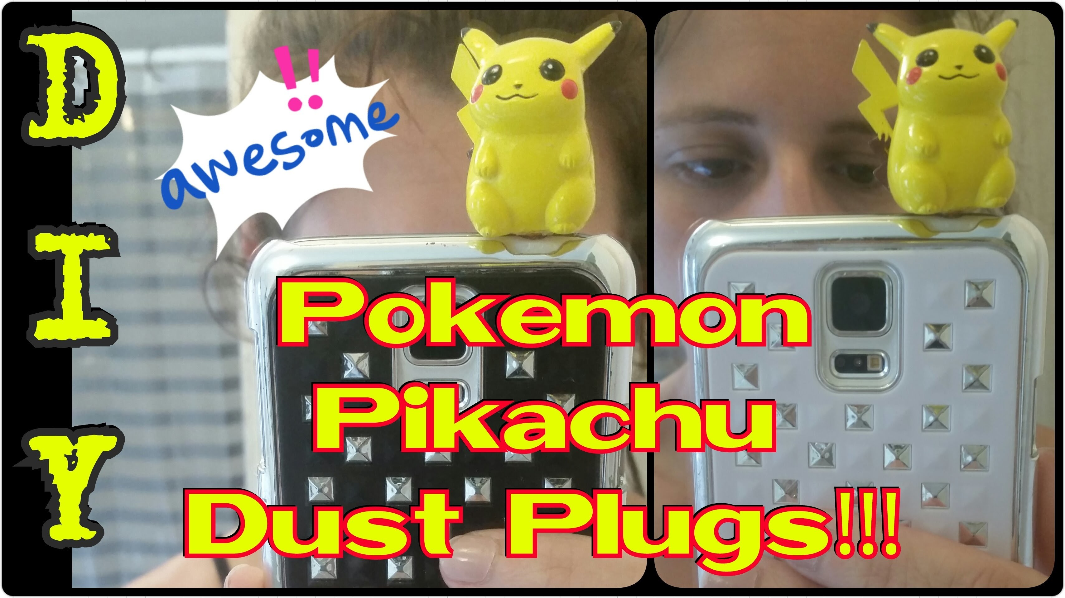 DIY Pokemon Pikachu Dust Plugs
