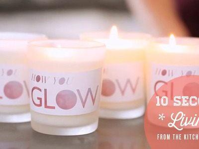 DIY Rose, Lavender, and Green Tea Candles. 10 Second Living with How You Glow