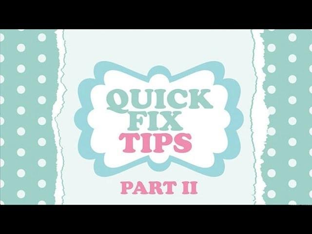 DIY Wardrobe Quick Fix Tips Part II