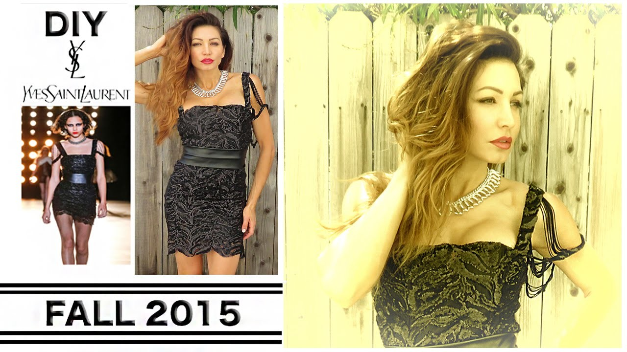 DIY YSL DRESS-FALL 2015 - Runway Recreation