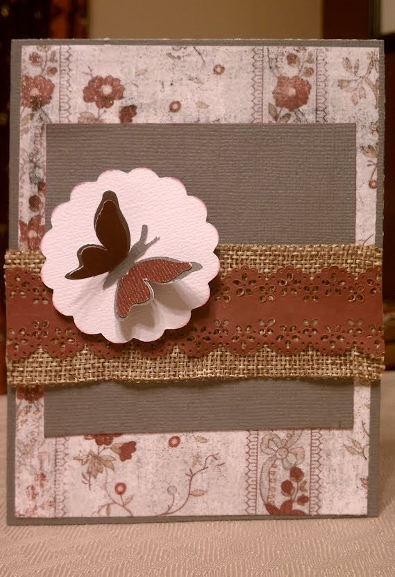 Everyday Butterfly Handmade Note Card