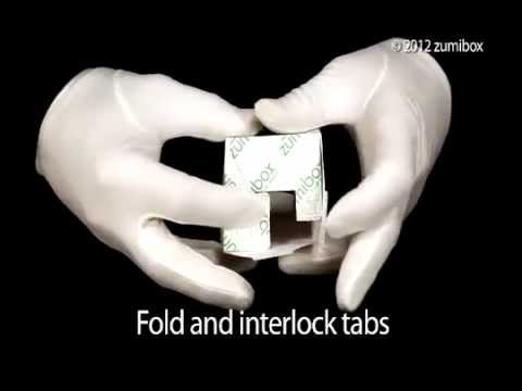 How To Assemble DIY Customizable Cube Box Favor Box - zūmibox