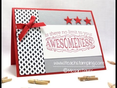 How to Use Stampin' Up's Big News to Make a Handmade Card