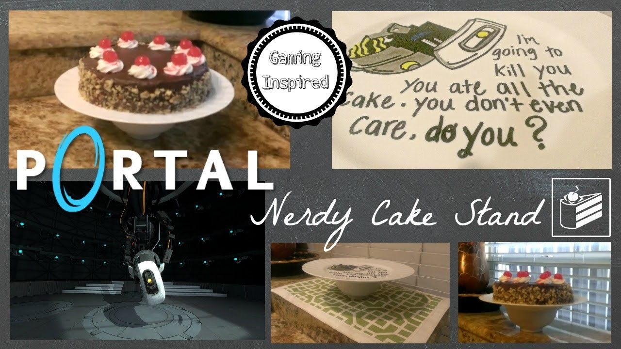 Portal 2 Inspired GLaDOS Nerdy Cake Stand DIY